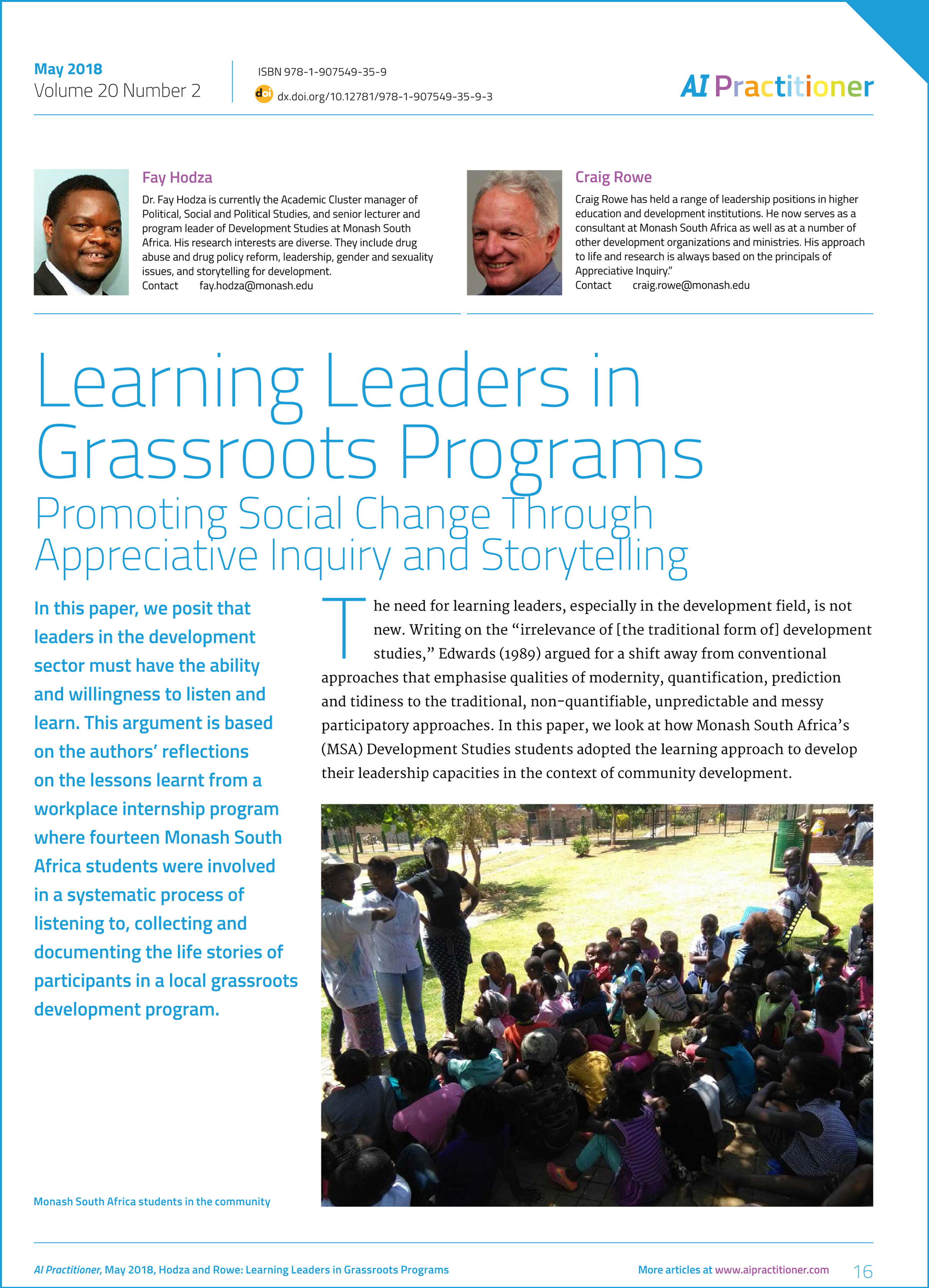 AI Practitioner May 2018 Learning Leaders: Learning Leaders in G